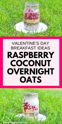 Valentine's Day healthy breakfast ideas: Raspberry coconut overnight oats with coconut milk and with chia seeds for breakfast in bed. or strawberry orange. Clean eating breakfast recipes, food and drink Healthy Food Habits, Healthy Meals To Cook, Healthy Food Choices, Good Healthy Recipes, Healthy Cooking, Free Recipes, Healthy Snacks, Clean Eating Breakfast, Breakfast Ideas