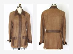 1970's Womens Spice Brown Suede Leather Jacket New England Sportswear  Sz S by vintageandmore on Etsy