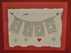 Hanging Heart, mixed media on Craftsy.  Card idea