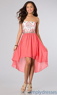 High Low Strapless Dress by As U Wish at SimplyDresses.com