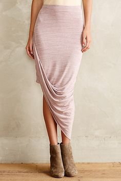 Oblique Wrap Skirt #anthropologie. Ugh in love with this skirt. Would be so cute with tights and booties like that for the winter. And a long sleeve flowy half way tucked in. One day.