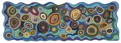 Abstract circles #rug hooking