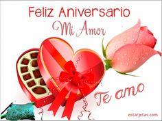 Feliz Aniversario mi amor Te amo