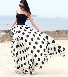 Ivory / Black Polka Dots