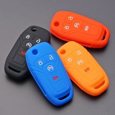 Silicone 4 button flip folding key fob Remote cover case for ford Car Key Fob, Key Covers, Nintendo Wii Controller, Ford Focus, Silicone Rubber, Remote, Faces, Button, Face
