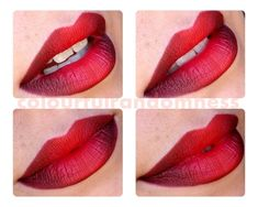 Red ombre lips.