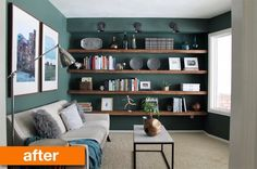 Before & After: Whole Room Transformations — Best of 2014 | Apartment Therapy...I love this color!