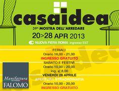 Casaidea 2013: Materassi Falomo alla mostra dell'arredare di Roma! http://www.manifatturafalomo.it/blog/fiere-ed-eventi/fiera-di-roma-casaidea-2013/