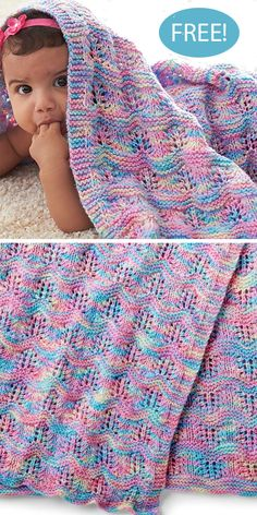Free Knitting Pattern for Baby Ripple Afghan blanket yarn patterns crochet baby afghans free knitting Baby Ripple Afghan in Bernat Baby Sport Easy Knit Baby Blanket, Free Baby Blanket Patterns, Baby Afghan Crochet, Knitted Baby Blankets, Crochet Blanket Patterns, Baby Patterns, Knitting Patterns Free, Crochet Yarn, Crochet Ideas