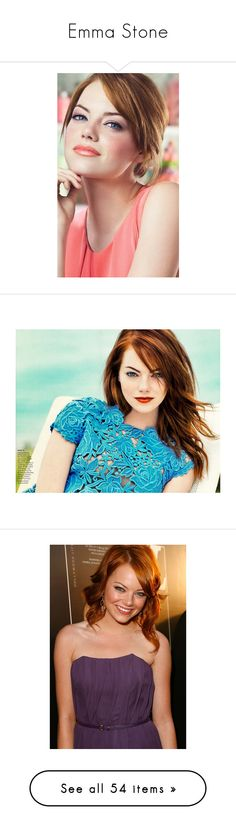"""Emma Stone"" by annafilipa ❤ liked on Polyvore featuring jewelry, emma stone, people, models, pictures, celebrities, stone jewelry, stone jewellery, backgrounds and editorials"
