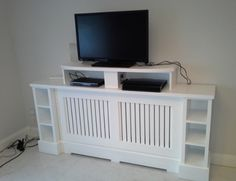 Our aim is to create a radiator cover that is a designer piece of furniture, each unit is custom made with you in mind. It will enhance any room ! Alcove Ideas Living Room, Living Room Designs, Living Room Decor, Tv Shelf, Radiator Cover, Shaker Style, Tv Unit, Radiators, Lockers
