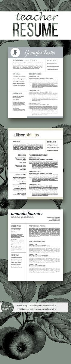 Teacher Resume Template - the Jennifer Teacher resume template - great teacher resumes