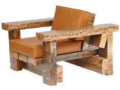 Piet Hein Eek, Foto item fauteuil met leren kussens