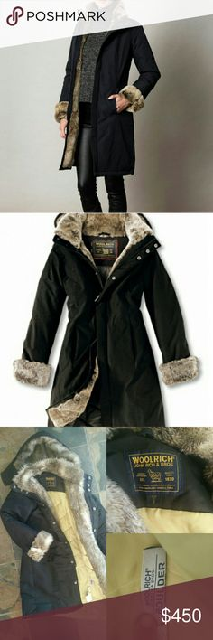 Woolrich Boulder parka Woolrich John Woolrich & Bros. Boulder parka. Woolrich has been making quality goods since 1830, this coat no exception. Superior construction keeps you warm in this coat down to -40?, and with waterproof fabric it can stand up to anything all while being chic and stylish for everyday wear.   Beautifully made with Ram fur lined front, sleeves, and removable hood, down filled. This coat quickly sold out at Bloomingdale's for $795. In excellent condition and great…
