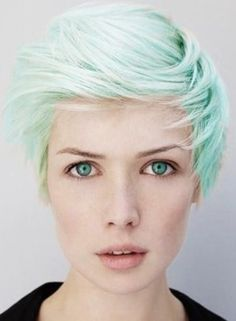 Love this mint green hair color! Maybe I need to get this color highlight instead of lavender?