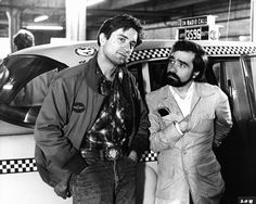 Robert De Niro and Martin Scorsese filming 'Taxi Driver'