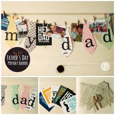 father's day tie banner printable