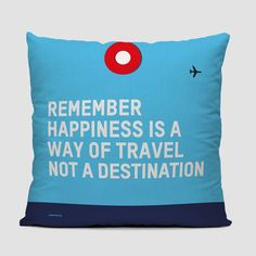 Remember Happiness - Throw Pillow airporttag.com