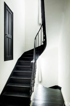 A stairway in Franca Sozzani's art-filled French retreat, which AD was invited to tour just before the editor's untimely death in December.