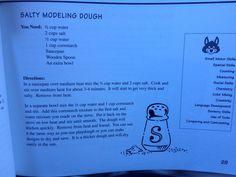 Salty modeling dough