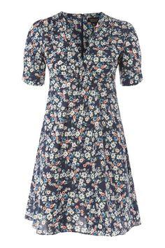 Ditsy Print Poplin Tea Dress