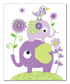 Sweet and silly, this whimsical elephant print will make little ones giggle and grin. Printed on archival art paper, this will be a lasting addition to a bedroom or playroom that instantly brightens décor. Shipping note: This item will be personalized just for you. Allow extra time for your special find to ship.