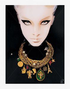 Nuno Da Costa, contemporary Fashion and Beauty Painter. Amazing work...
