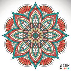 Mandala - ilustração de arte em vetor