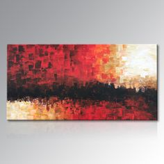 Framed Hand Painted Red Abstract Canvas Wall Art Modern Oil Painting Contemporary Artwork Home Decoration for Living Room fireplace ** AliExpress Affiliate's Pin. Clicking on the VISIT button will lead you to find similar product