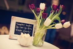 Chalkboards would be a cute way to display quotes from the book you're promoting.