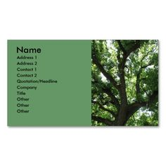 Majestic Tree Business Card. This is a fully customizable business card and available on several paper types for your needs. You can upload your own image or use the image as is. Just click this template to get started!