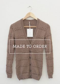 Made to Order - Hand Knitted Jerseys. Made from lightweight smooth spun yarn. Read more here: graydawn.co.za/...