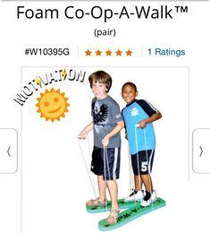 Foam Co-Op-A-Walk - great idea for Field Day!
