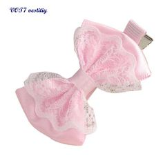 Gratis pengiriman VOT7 vestitiy 2017 fashion wanita Lucu Lace Ikatan Simpul Rambut Klip Baby Girl Jepit Rambut Aksesoris Rambut Anak Oktober 10
