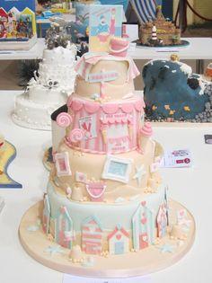 Seaside tiered cake