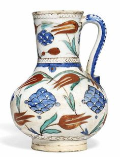 IZNIK POTTERY JUG OTTOMAN TURKEY, CIRCA 1590. Sold at Christies, London, for £10,000 (2013)