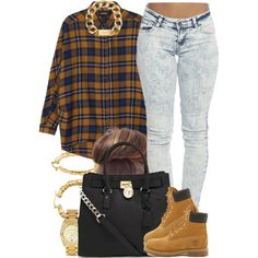 A fashion look from January 2015 featuring brown tops, stretch jeans and timberland boots. Browse and shop related looks. Tims Outfits, Swag Outfits, Pretty Outfits, Casual Outfits, Cute Outfits, Timberland Outfits Women, Timberland Style, Timberland Heels, Timberland Fashion