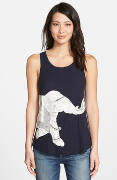 Lucky+Brand+Embroidered+Elephant+Tank+available+at+#Nordstrom