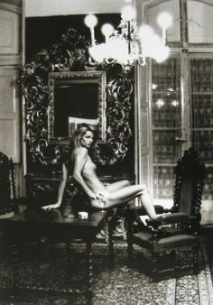 "Helmut Newton's iconic 1974 Vogue portrait of a reclining Charlotte Rampling. Sofia Coppola states: ""I like photos that have a story to them. This picture could almost be a still from a film : It makes me think about what just happened and what will happen next ''.  The Grand Hotel Nord-Pinus in Arles used to house the bullfighters when in town for the corridas. This is the bullfighters room where they prepare before the fight ."