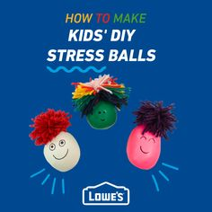 Use balloons and other materials around your house to make tactile sensory balls for kids. Double the fun by accessorizing them to look like any character you choose!