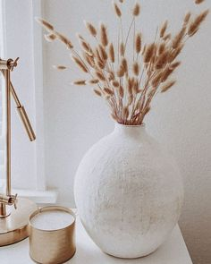 Look at this vase of bunny tails (a small variety of the popular pampas grass). This is a neutral classic that can be used to decorate your home year-round. #home #accents #homeaccents #homestyle #homesweethome #driedplants #driedflowers #bunnytails #pampas #pampasgrass #homedecor #decoration #livingroominspiration #livingroominso #diyhomedecor #decorating #decorideas #homestyle #decoratemyspace #naturaldecor #neutraldecor #minimalistdecor #nordicdecor