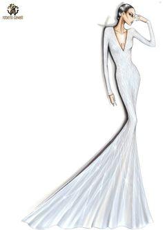 vestido en V