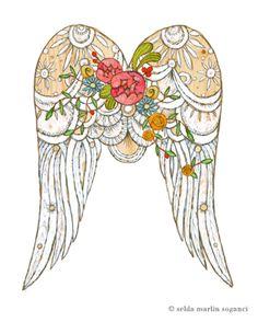 Fotos - Madeira Escultura para pendurar & quot; asas de anjo & quot; - A peça de designer de selda em DaWanda