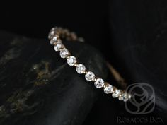 Naomi/Petite Bubble & Breathe 14kt Rose Gold Diamond by RosadosBox