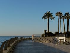 This promenade, starting at the western end of Larvotto Beach runs right around the Grimaldi Forum. A good place for an early morning run.