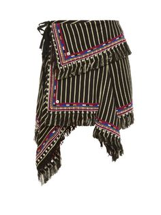Isabel Marant Raffi striped and embroidered skirt