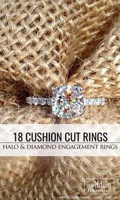 18 Brilliant Cushion Cut Engagement Rings ❤ Cushion cut engagement rings become more and more popular and it is not surprising because they can look not only modern, but also vintage, very popular among brides. See more: http://www.weddingforward.com/cushion-cut-engagement-rings/ #wedding #engagement #rings