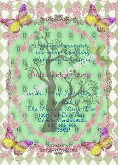 FAIRY TINKERBELL Inspired Invitation Fairytale Birthday CUSTOM Wording by GigiBabi on Etsy