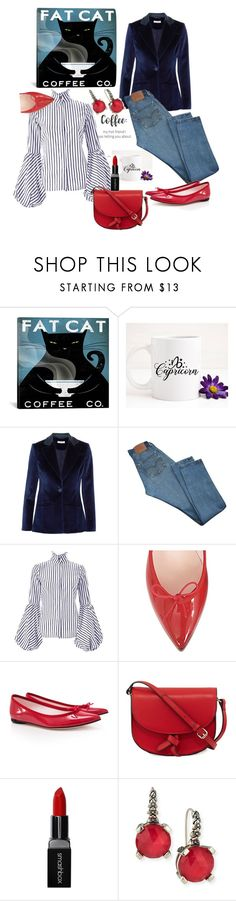 """""""Coffee Date"""" by mrscindeaser ❤ liked on Polyvore featuring Dukes, Altuzarra, Levi's, Repetto, KC Jagger, Smashbox and Stephen Dweck"""