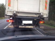 When truck drivers have a sense of humor